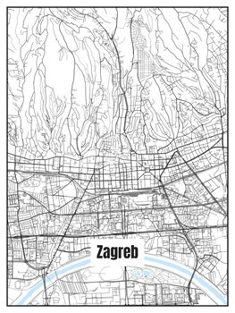 Mapa de Zagreb