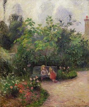 Reprodução do quadro  A Corner of the Garden at the Hermitage, Pontoise, 1877