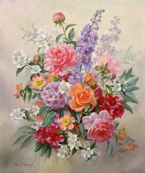 Reprodução do quadro  A High Summer Bouquet