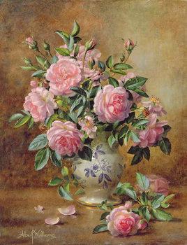 Reprodução do quadro  A Medley of Pink Roses