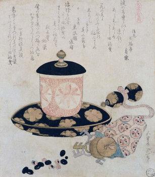 Reprodução do quadro A Pot of Tea and Keys, 1822