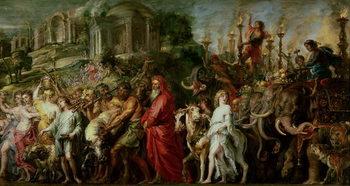 Reprodução do quadro  A Roman Triumph, c.1630