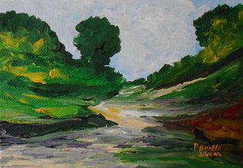 Reprodução do quadro  A stroll in Ennery, 2016