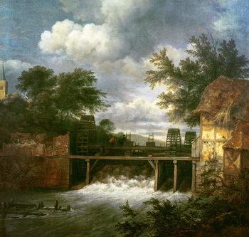 Reprodução do quadro A Watermill