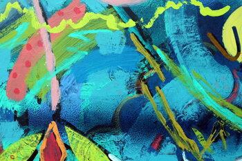 Reprodução do quadro abstract 20