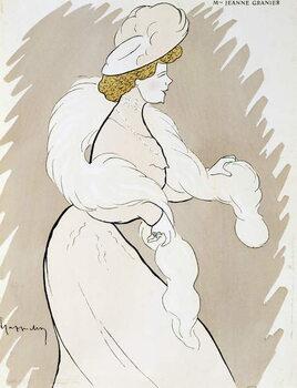 Reprodução do quadro Actress Jeanne Granier (1852-1939), drawing by Leonetto Cappiello
