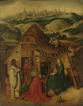 Reprodução do quadro  Adoration of the Magi, early 17th century