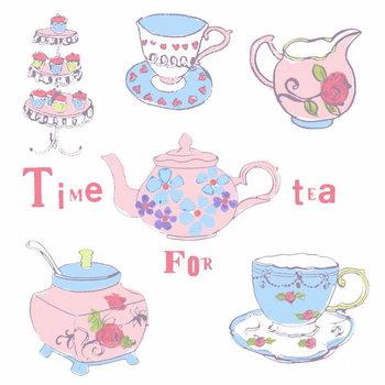 Reprodução do quadro Afternoon Tea