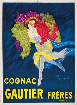 Reprodução do quadro An advertising poster for Gautier Freres cognac, 1907