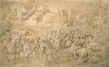 Reprodução do quadro Apparition of St. Peter and St. Paul