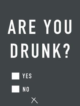 Ilustração Are you drunk