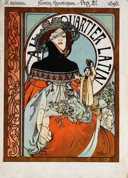 Reprodução do quadro Au Quartier Latin, 1898