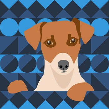 Reprodução do quadro Aztec Dog