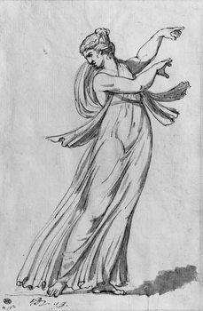 Reprodução do quadro Bacchante