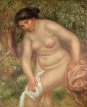 Reprodução do quadro Bather drying herself, 1895