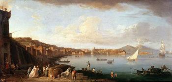 Reprodução do quadro Bay of Naples from the North
