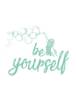 Arte Fotográfica Exclusiva Be yourself - Blue