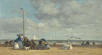 Reprodução do quadro  Beach at Trouville, 1864-5