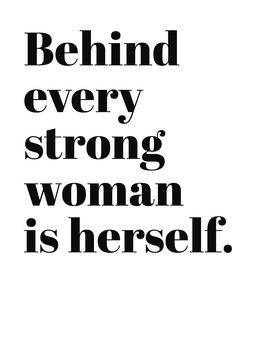 Ilustração Behind every strong woman