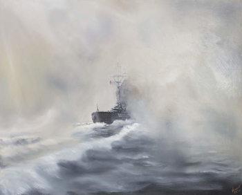 Reprodução do quadro  Bismarck evades her persuers May 25th 1941, 2005,