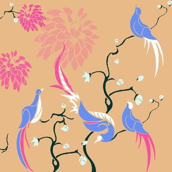 Reprodução do quadro Blossom Birds