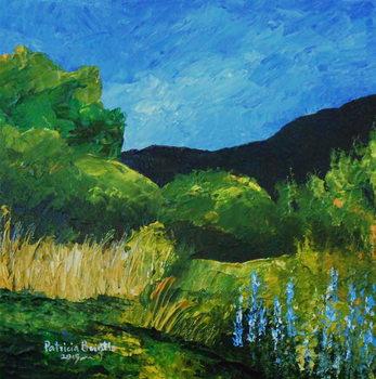 Reprodução do quadro  Blue Lupines, 2015