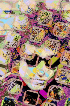 Reprodução do quadro Bob Dylan
