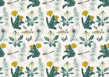 Reprodução do quadro Botanical Kingfisher