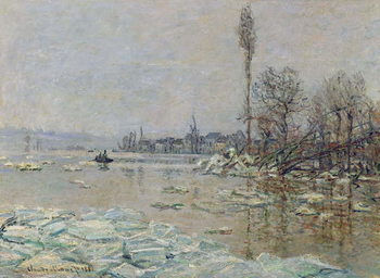 Reprodução do quadro  Breakup of Ice, 1880