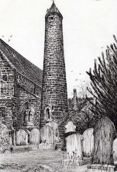 Reprodução do quadro Brechin Round Tower Scotland, 2007,