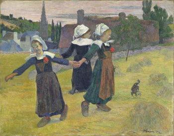 Reprodução do quadro  Breton Girls Dancing, Pont-Aven, 1888
