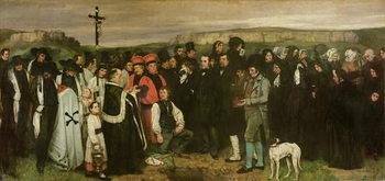 Reprodução do quadro  Burial at Ornans, 1849-50