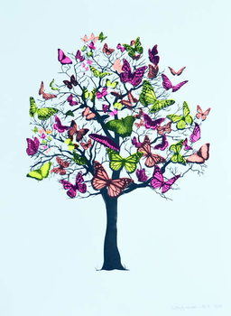 Reprodução do quadro  Butterfly blossom, 2016,