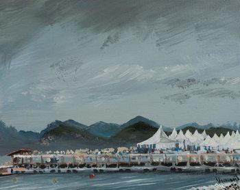 Reprodução do quadro  Cannes Film Festival tents 2014, 2914,