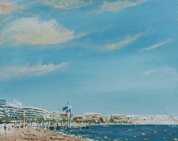 Reprodução do quadro  Cannes Sea Front, 2014,