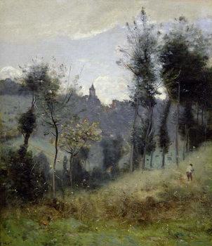 Reprodução do quadro Canteleu near Rouen