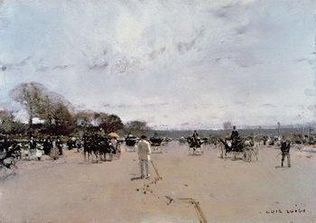 Reprodução do quadro  Carriages on the Champs Elysees