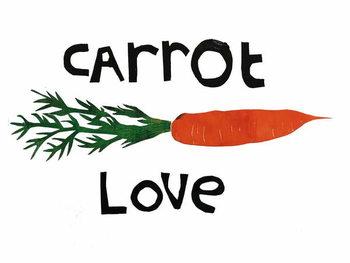 Reprodução do quadro carrot love,2019