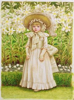 Reprodução do quadro Child in a White Dress, c.1880