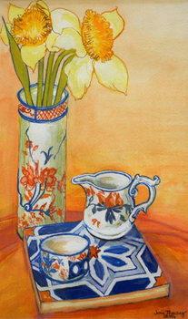 Reprodução do quadro Chinese Vase with Daffodils, Pot and Jug,2014