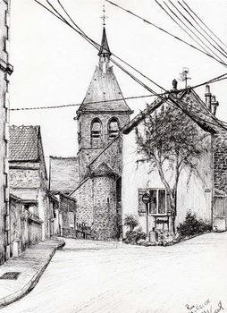 Reprodução do quadro Church in Laignes France, 2007,