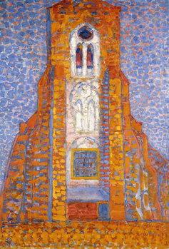 Reprodução do quadro  Church of Eglise de Zoutelande, 1910