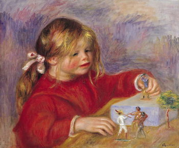 Reprodução do quadro  Claude Renoir (b.1901) at Play, 1905 (oil on canvas)