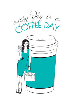 Ilustração Coffee Day