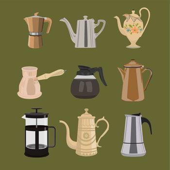 Reprodução do quadro Coffee Pots
