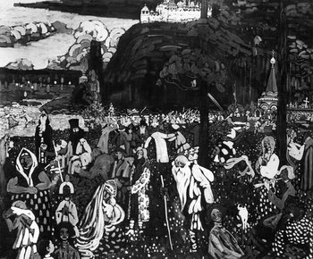 Reprodução do quadro  Colourful Life, 1907 (tempera on canvas)