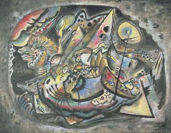 Reprodução do quadro Composition: The Grey Oval, 1917