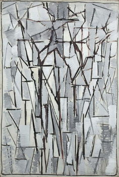 Reprodução do quadro Composition trees 2, 1912-13