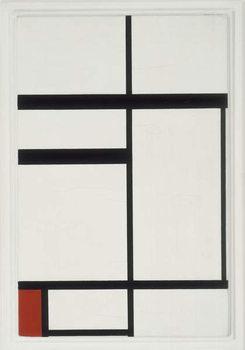 Reprodução do quadro Composition with Red, Black and White, 1931