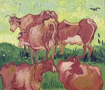 Reprodução do quadro  Cows, 1890